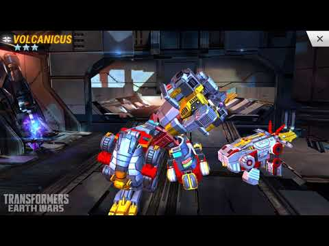TRANSFORMERS: Earth Wars - Volcanicus, Superion, Optimus Maximus