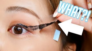 TESTING VIRAL EYELINER STICKERS! does it really though???
