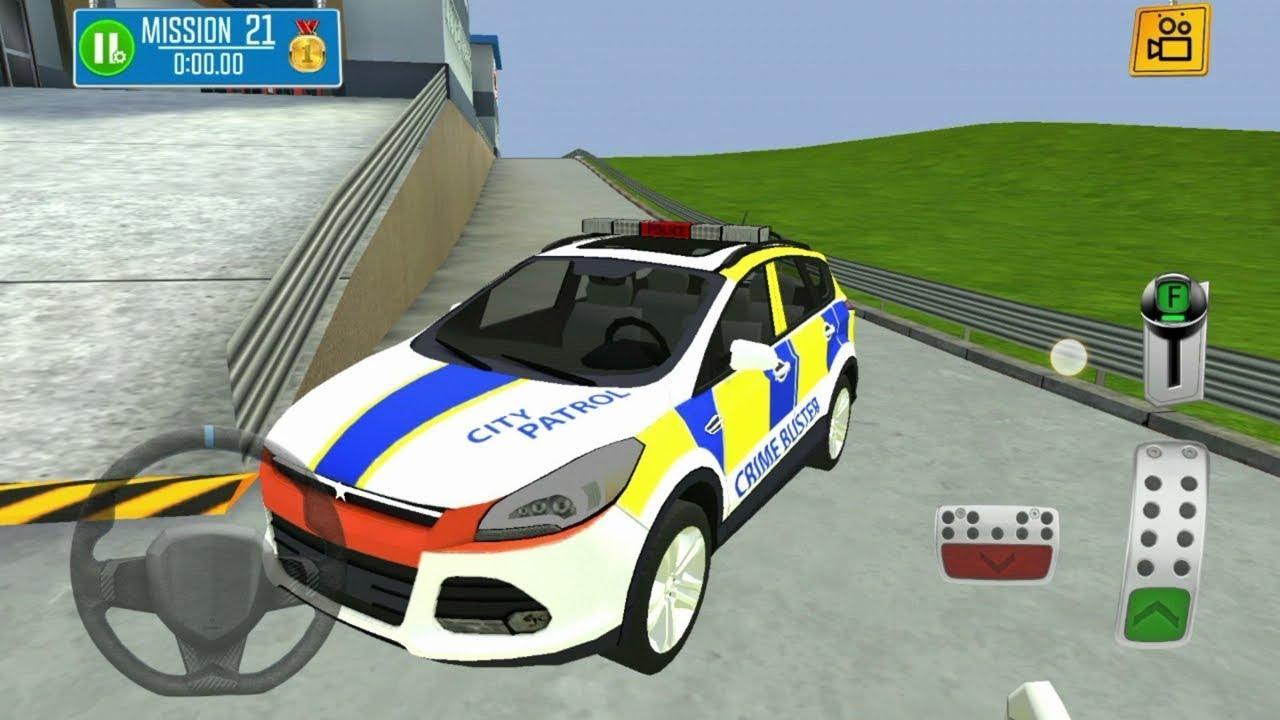 Multi Floor Police Car Garage Driver Car Driving