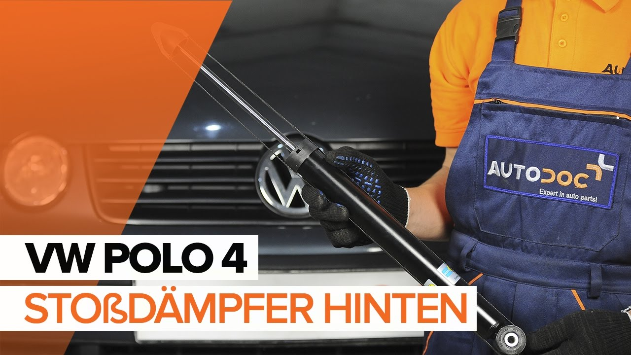 vw polo 4 sto d mpfer hinten wechseln tutorial hd youtube. Black Bedroom Furniture Sets. Home Design Ideas
