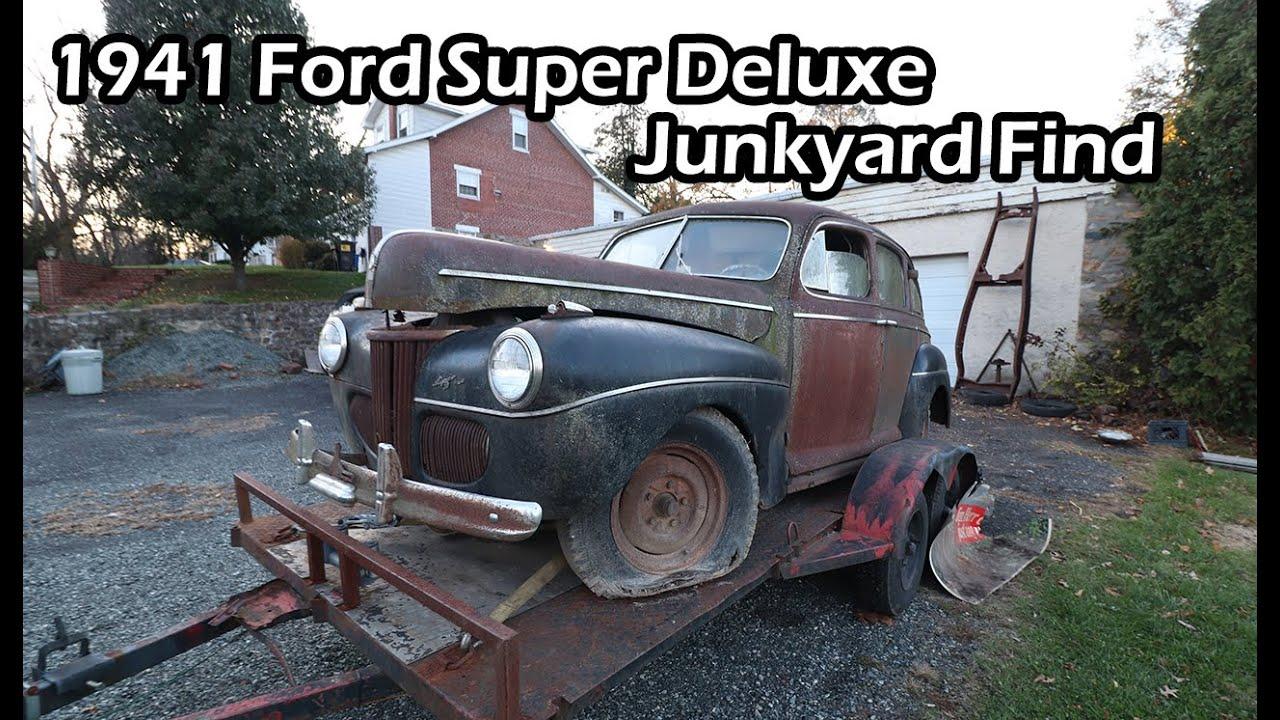 1941 Ford Super Deluxe Junkyard Find Youtube