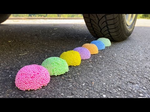 EXPERIMENT: Car Vs Foam Balls - Crushing Crunchy & Soft Things By Car!