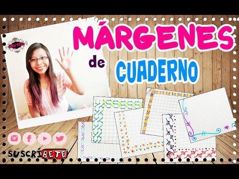 VUELTA A CLASE: Márgenes para cuaderno!!!-Super fácil