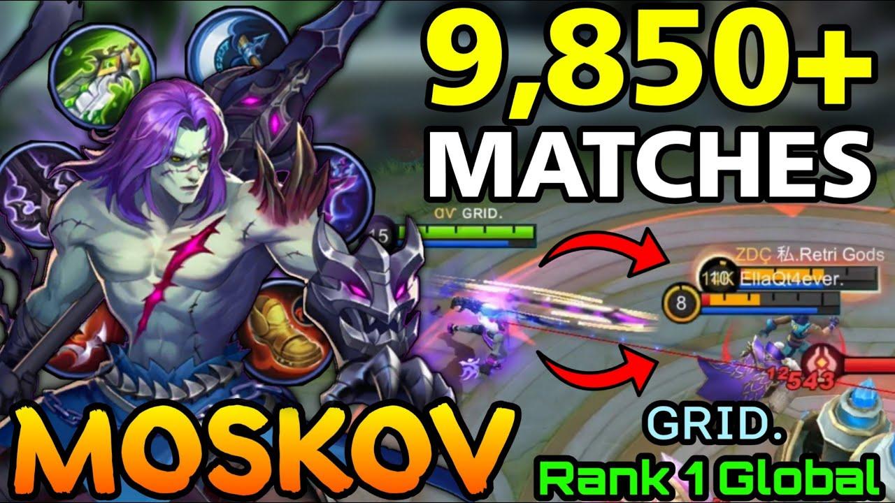 9,850+ Matches Moskov Powerful Spear! - Top 1 Global Moskov by ɢʀɪᴅ. - MLBB