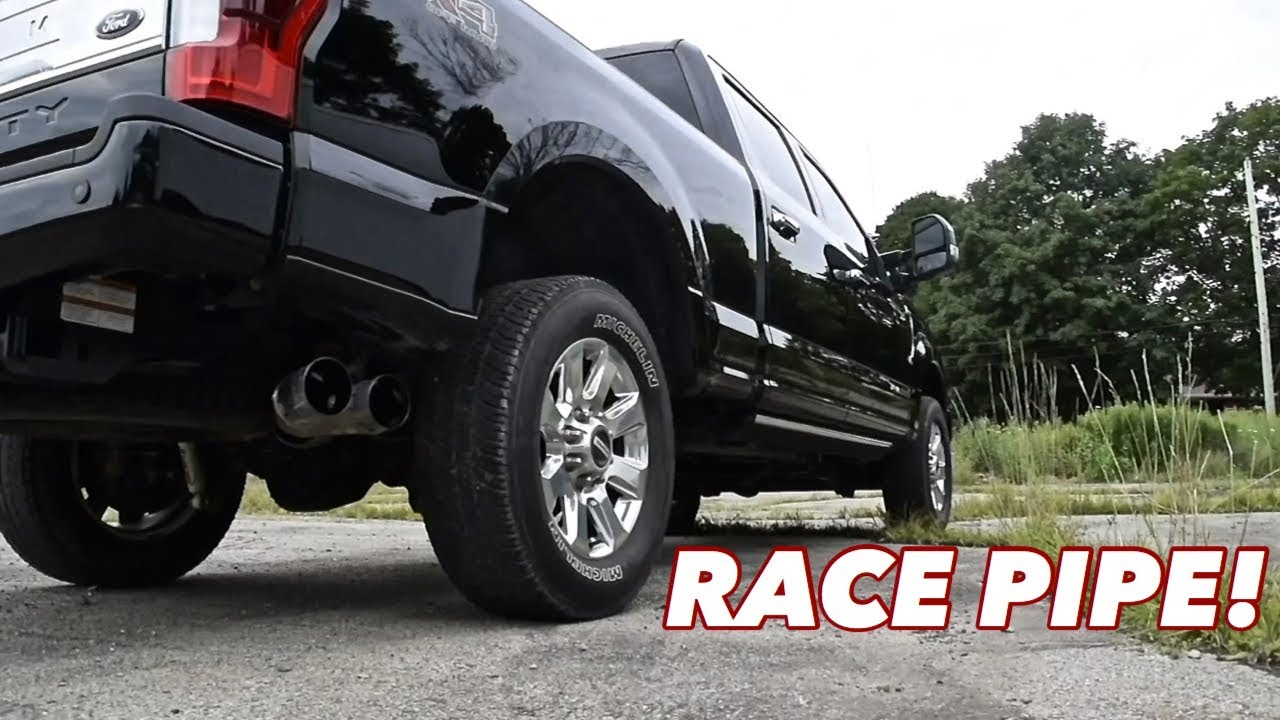 what does a 6 7 powerstroke race pipe sound like