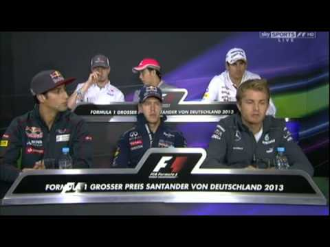 Formula 1 2013 German GP Drivers Press Conference Part 2