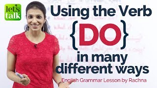 Using the verb 'DO' in many different ways - English Grammar Lesson