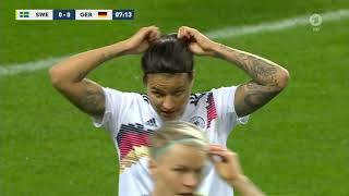 Frauenfußball Testspiel Schweden vs  Deutschland 6.4.2019