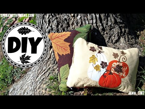 DIY Throw Pillow   Easy Sewing   Dollar Tree Demo & Review