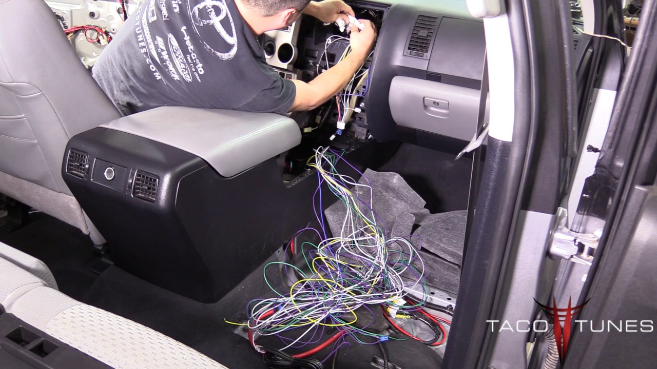 toyota tundra 2007 2013 how to install plug and play amplifier harnesses [ 1280 x 720 Pixel ]