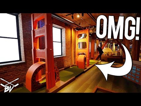 AMAZING ONE OF A KIND MINI GOLF COURSE! - MINI GOLF HOLE IN ONE AND MORE AT SUB PAR!