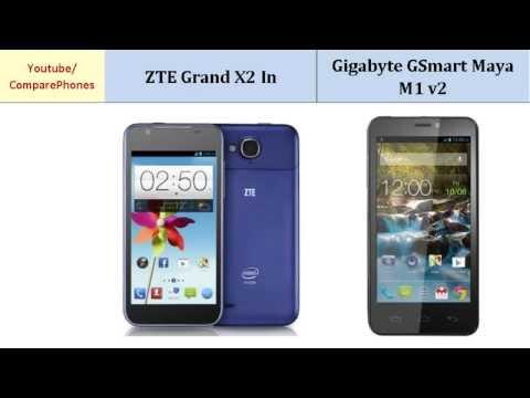 ZTE Grand X2 In over Gigabyte GSmart Maya M1 v2, all specifications