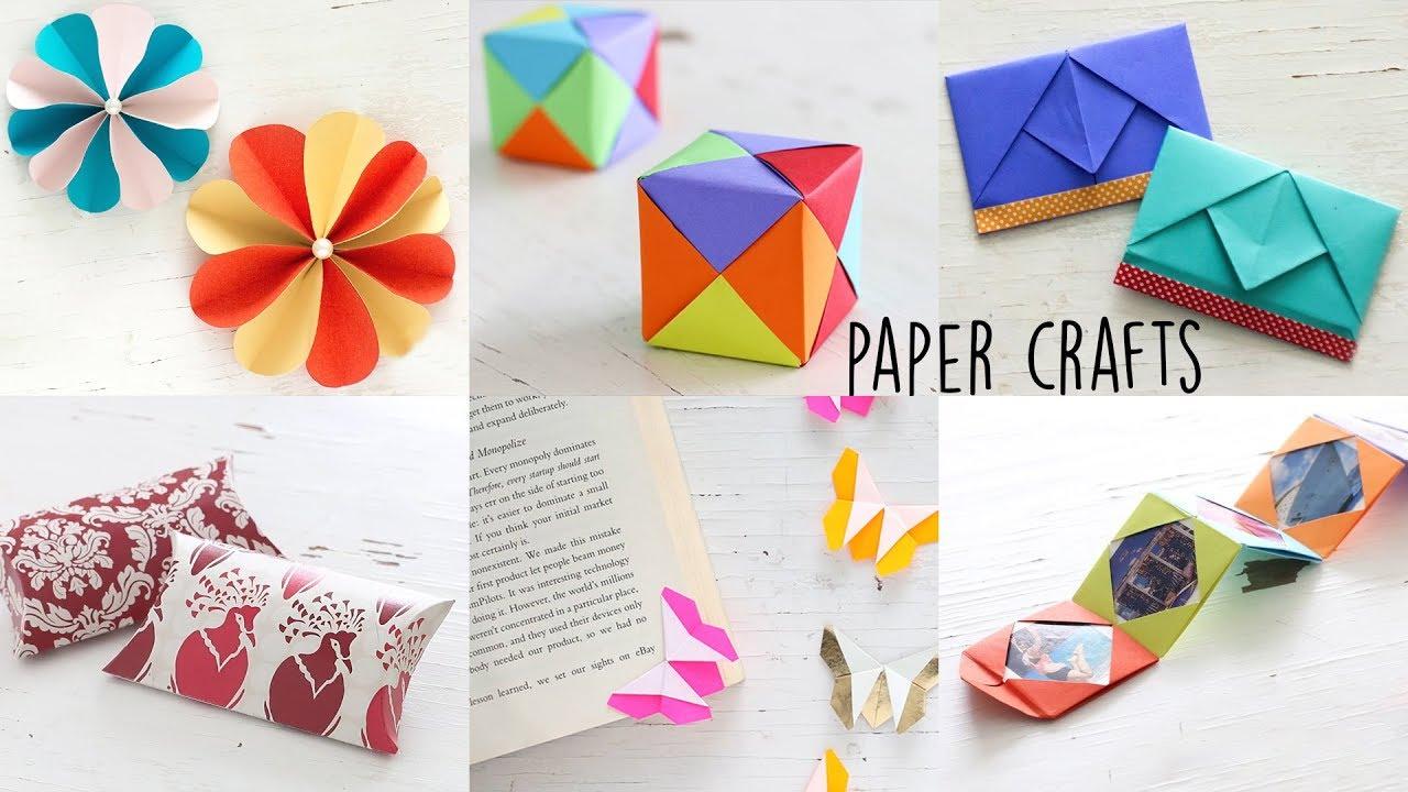 6 Easy Paper Craft Ideas Handmade Craft Ventuno Art Youtube