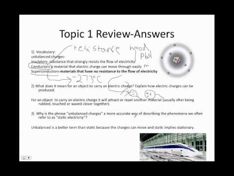 Static electricity review questions Answered.mp4