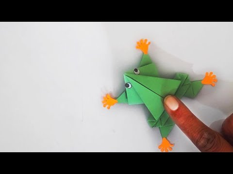 How to make Jumping Paper Frog   How to Make a Paper Frog that Jumps High and Far