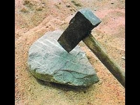 Как расколоть самый твердый камень вручную