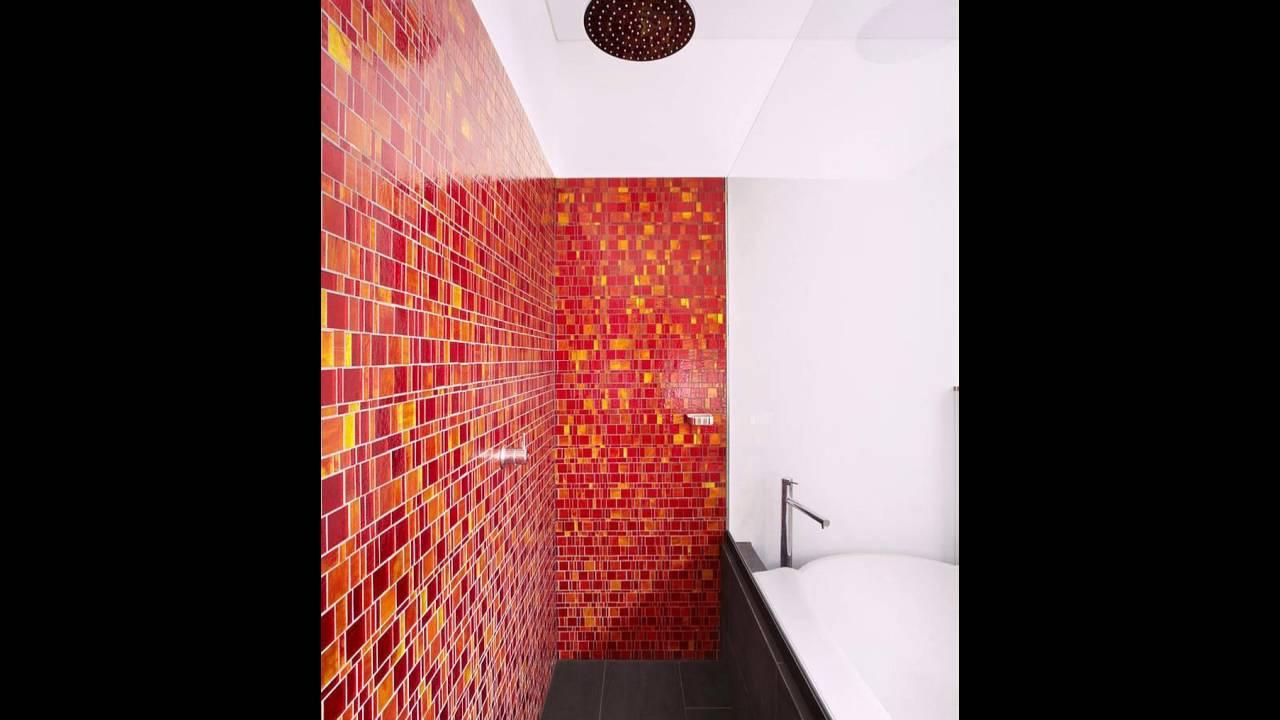 Rote und gelbe Fliesen für eine lebendige Badezimmer - YouTube