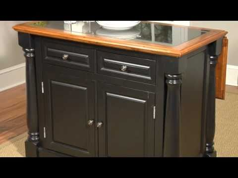 Monarch Kitchen Island - Home Styles Kitchen Island - YouTube