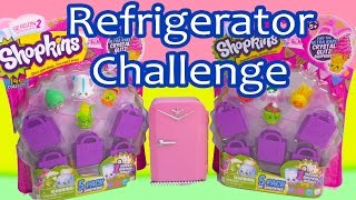 Shopkins Season 2 Refrigerator Challenge 5 Packs Blind Bag Basket Review Opening Cookieswirlc