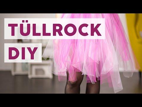 Gut bekannt Tüllrock selber machen - ganz ohne Nähen! - YouTube DB96