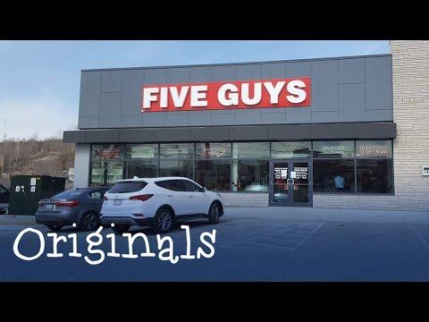Five Guys opening day in Sudbury