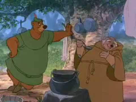 Robin Hood Little John meets Friar Tuck