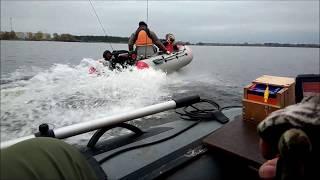 x river Grace 300  Tohatsu 9 8 и CompAs 350  Mercury 15  Просто кайфанули