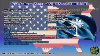 South Carolina State Song SOUTH CAROLINA ON MY MIND with music, vocal and lyrics