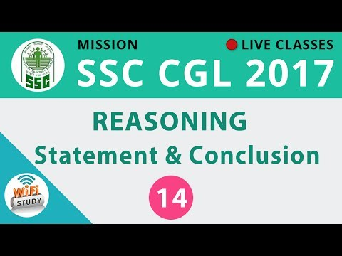 Mission SSC CGL 2017 | Reasoning #Statement & Conclusion | Day-14