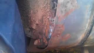 Кузовной ремонт крыла, не снимая с машины. Шевроле Тахо 96.