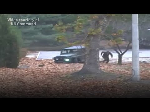 Soldier's dramatic escape from North Korea caught on camera