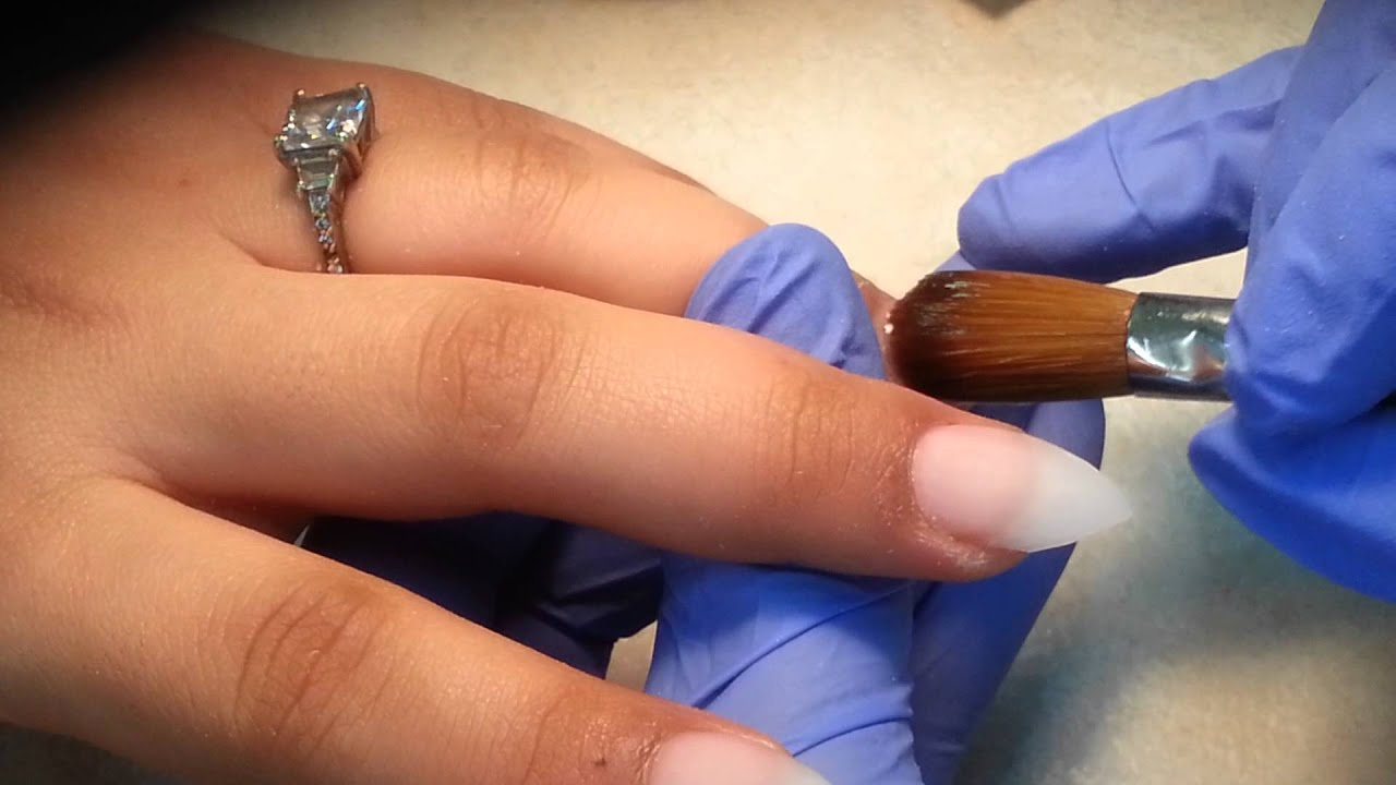 Acrylic Stiletto Nails Set, No electricity file. - YouTube