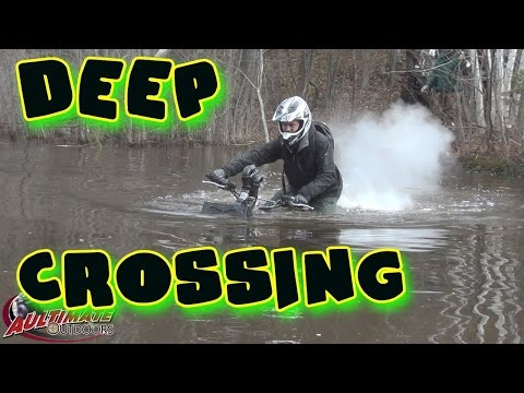 FALL MUD RUN! PART 1 DEEP WATER CROSSING...JOHNSTOWN ATV TRAILS  ONTARIO CANADA