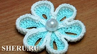 Crochet Double Sided Flower Урок 36 Как связать крючком двухсторонние цветы(http://sheru.ru На этом уроке Вы научитесь вязать цветочек, который великолепно смотрится как с лицевой так и изна..., 2013-06-25T12:44:22.000Z)