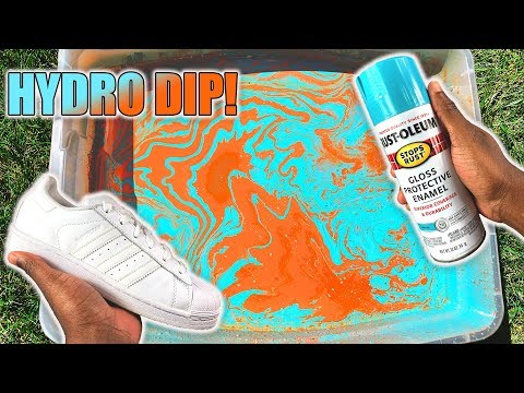 Hydro Dipping ADIDAS Shoes!!