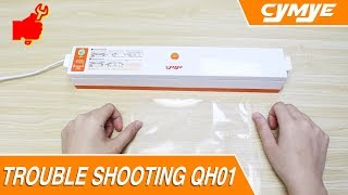 Cymye Food Vacuum Sealer - Seal function only. How to use.