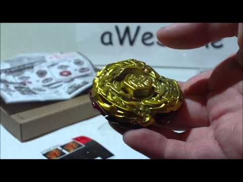Beyblade Metal Fight 4D Gold Armored L-Drago Destroy