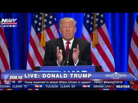 FNN: Donald Trump Attacks Hillary Clinton - FULL SPEECH (Trump uses Teleprompter)