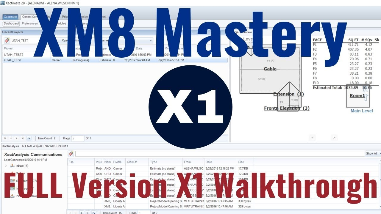 Beginner Xactimate Version X1 Walkthrough | XM8