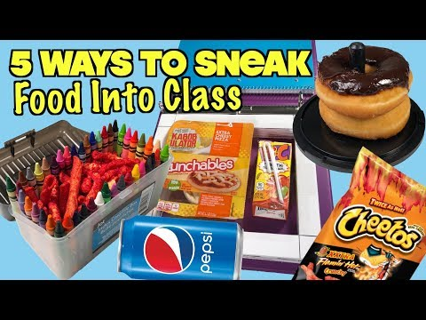 5 Smart Ways To Sneak Food Into Class Without Getting Caught: PART 20 – SCHOOL LIFE HACKS| Nextraker