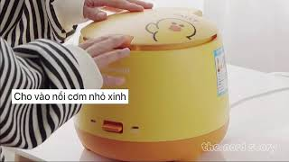 Nấu cơm thập cẩm với nồi cơm điện mini Joyoung Hàn Quốc - Nấu ăn cùng Tik Tok