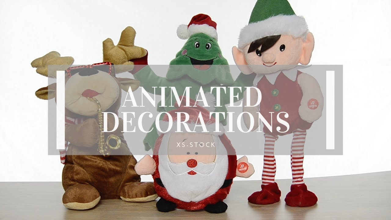 Animated christmas decorations youtube for Animated christmas decorations