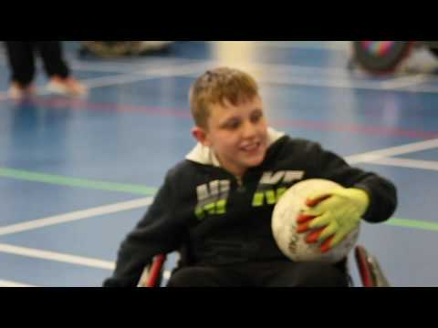 Ellesmere College try out wheelchair rugby with Leicester Tigers