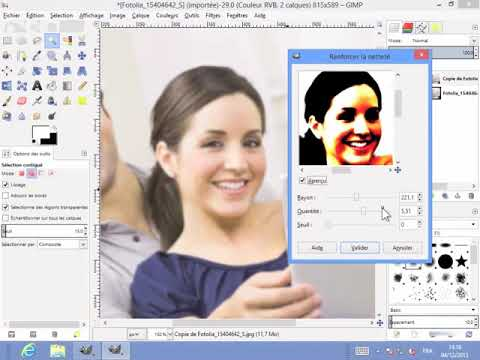 Gimp 10 3 Rendre Une Photo Plus Nette Youtube