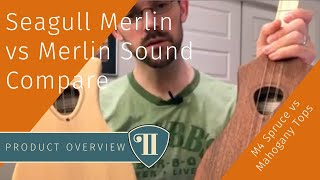 Seagull Merlin vs Merlin Sound Compare | M4 Spruce vs Mahogany Tops | StickDulcimer.com