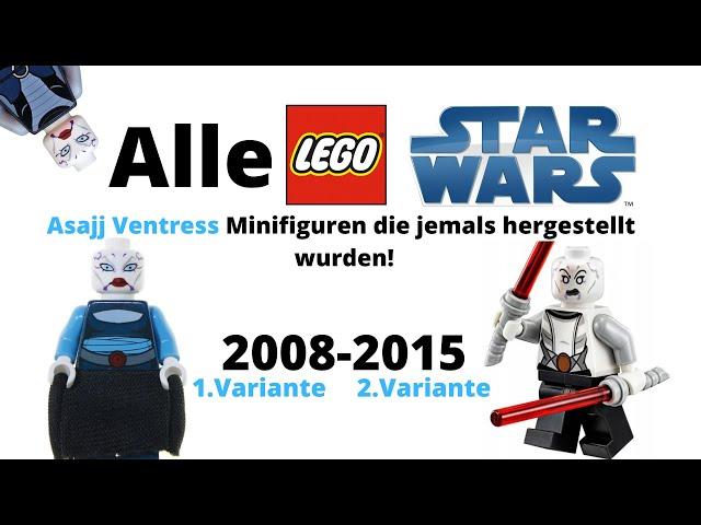 Alle LEGO Star Wars Asajj Ventress Minifiguren die jemals hergestellt wurden!/deutsch