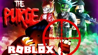 ROBLOX: BARRY DOES THE PURGE ON BLOX :)! (Let's Play Video)