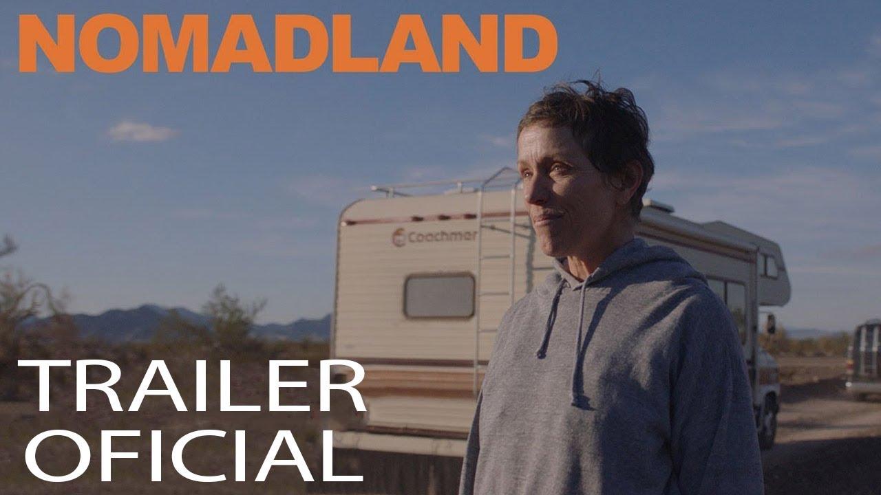 Idosos que vivem em automóveis nos EUA, filme baseado no livro-reportagem Nomadland.