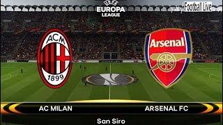 PES 2018   AC Milan vs Arsenal   UEFA Europa League   Gameplay PC