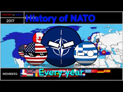 History of NATO: Every year (in countryballs)